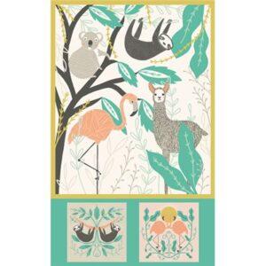 Zoology Baby Blanket Panel 36