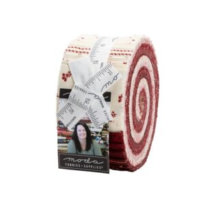 Redwork Gatherings Jelly Roll By Moda