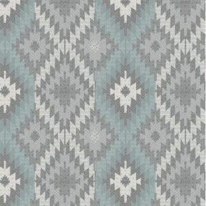 Modern Lodge By For Benartex - Lt. Turq./Grey