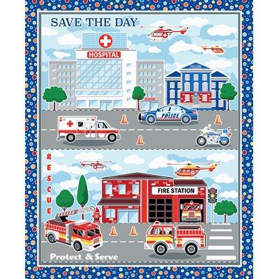 Save The Day By Kanvas Studio For Benartex - Panel - Multi