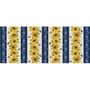 Accent On Sunflowers By Jackie Robinson For Benartex - Blue/Mulit