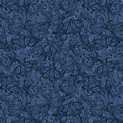 Accent On Sunflowers By Jackie Robinson For Benartex - Indigo