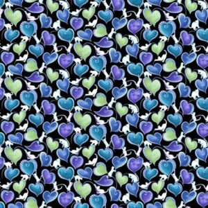 Catitude Singing The Blues By Ann Lauer For Benartex - Black/Multi - Pearl