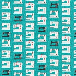 Bernina Vintage By Amanda Murphy For Benartex - Teal