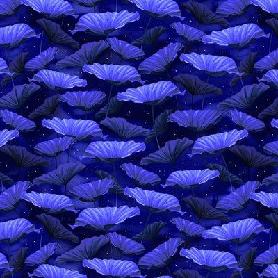 Moonlight Serenade By Kanvas Studio For Benartex - Royal Blue