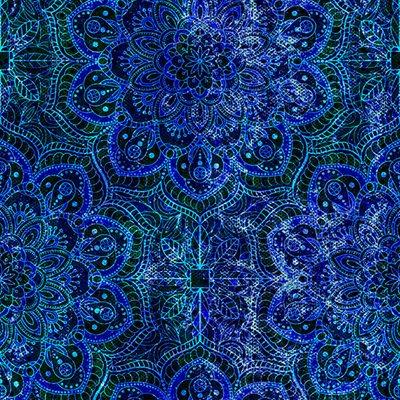 Floral Rhapsody Digital By Hoffman - Bluegrass