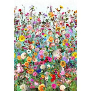 Floral Wonder Digital Print By Hoffman - Turquoise