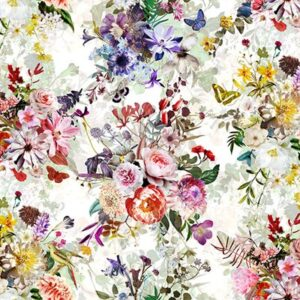 Floral Wonder Digital Print By Hoffman - Cream