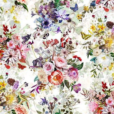 Floral Wonder Digital Print By Hoffman - Cream