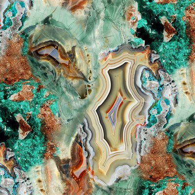 Bohemian Blends Digital By Hoffman - Turquoise
