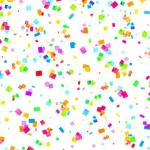 Cue The Confetti Digital By Hoffman - Rainbow