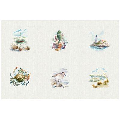 Shoreline Stories Digital Print By Hoffman - Natural