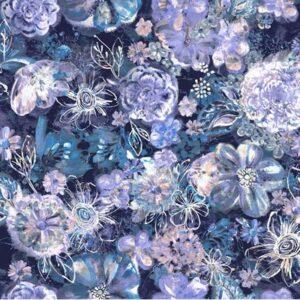 Bouquet Digiprint By Rjr Studio For Rjr Fabrics - Navy