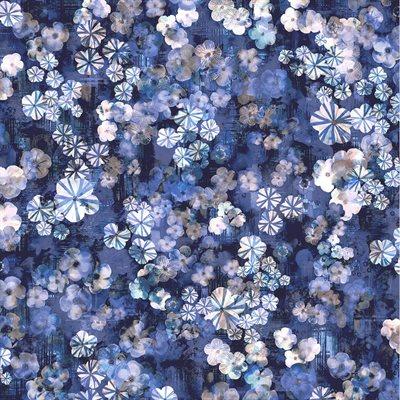 Bouquet Digiprint By Rjr Studio For Rjr Fabrics - Indigo