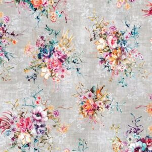 Bouquet Digiprint By Rjr Studio For Rjr Fabrics - Concrete