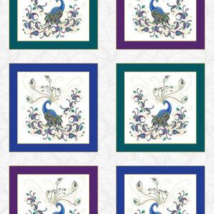 Peacock Flourish By Ann Lauer For Benartex - White/Multi