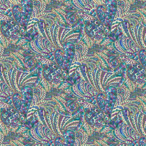 Peacock Flourish By Ann Lauer For Benartex - White/Multi