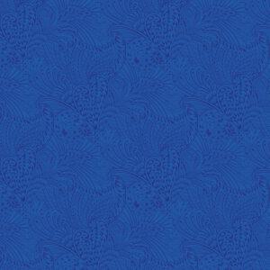 Peacock Flourish By Ann Lauer For Benartex - Dk. Blue