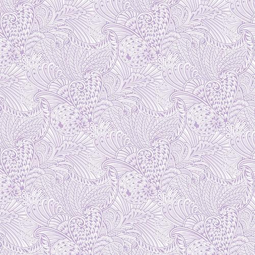 Peacock Flourish By Ann Lauer For Benartex - Lt. Purple