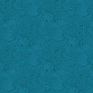 Peacock Flourish By Ann Lauer For Benartex - Dk. Teal