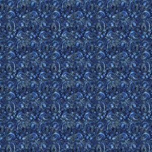 Peacock Flourish By Ann Lauer For Benartex - Med. Blue