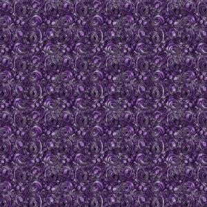 Peacock Flourish By Ann Lauer For Benartex - Med. Purple
