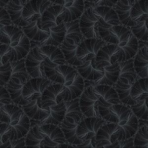 Peacock Flourish By Ann Lauer For Benartex - Black