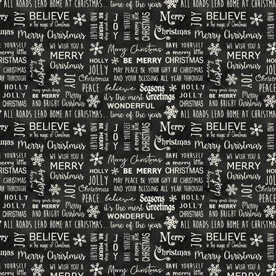 A Jingle Bell Christmas By Painted Sky Studio For Benartex - Gunmetal