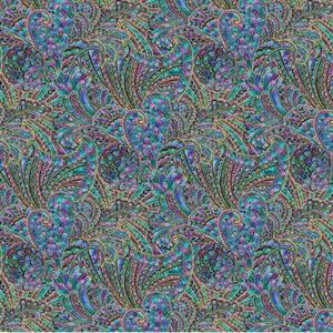 Peacock Flourish Laminate By Ann Lauer For Benartex - Multi