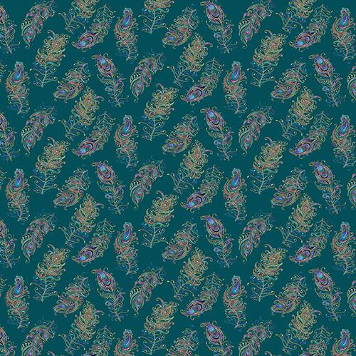 Peacock Flourish By Ann Lauer For Benartex - Dk. Teal/Multi