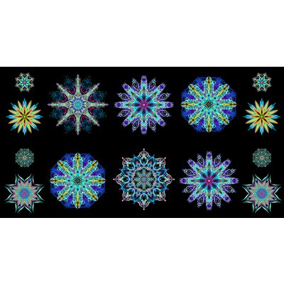 Duets By Paula Nadelstern For Benartex - Blue/Multi