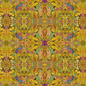 Duets By Paula Nadelstern For Benartex - Gold/Multi