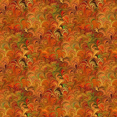 Poured Color By Paula Nadelstern For Benartex - Orange