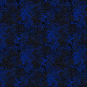 Poured Color By Paula Nadelstern For Benartex - Blue/Black