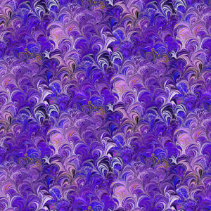 Poured Color By Paula Nadelstern For Benartex - Purple/Multi