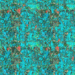 Poured Color By Paula Nadelstern For Benartex - Turquoise/Orange