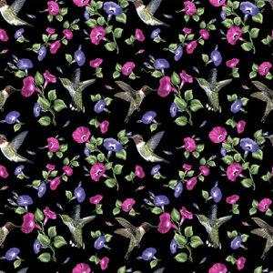 Hummingbird Song By Danny O'Driscoll For Benartex - Black