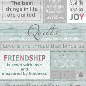 Words To Quilt By By Cherry Guidry For Benartex - Multi