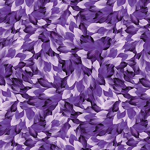 Petal Paradise By Kanvas Studio For Benartex - Purple