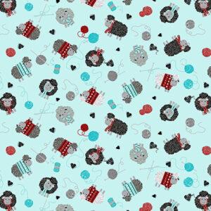 All You Knit Is Love By Kanvas Studio For Benartex - Aqua