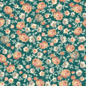 Summer Rose By Punch Studio For Rjr Fabrics - Forest Metallic