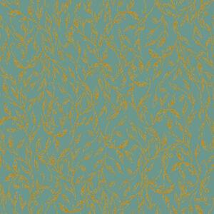 Summer Rose By Punch Studio For Rjr Fabrics - Sage Metallic