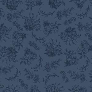 Summer Rose By Punch Studio For Rjr Fabrics - Navy