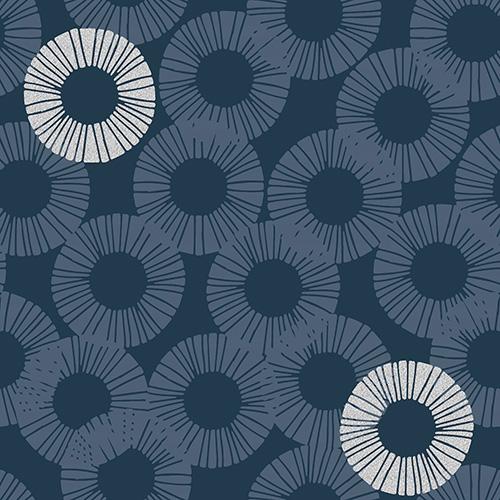 Shiny Objects Glitz And Glamour By Rjr Studio For Rjr Fabrics - Blue Dusk Metallic