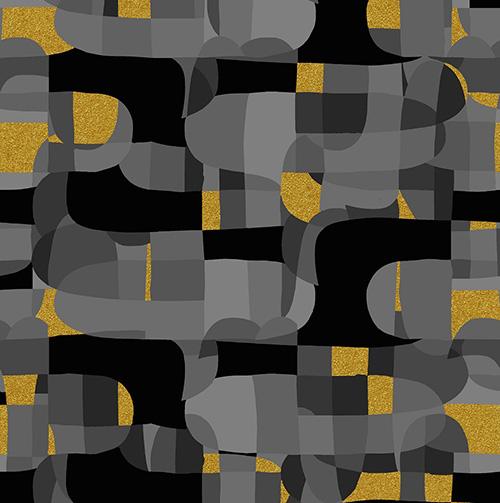 Shiny Objects Glitz And Glamour By Rjr Studio For Rjr Fabrics - Black Metallic