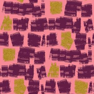 Shiny Objects Glitz And Glamour By Rjr Studio For Rjr Fabrics - Pink Starburst Metallic