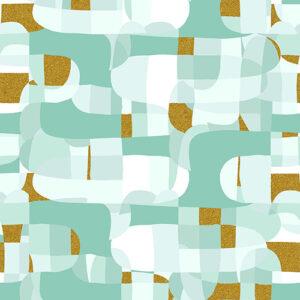 Shiny Objects Glitz And Glamour By Rjr Studio For Rjr Fabrics - Mint Metallic