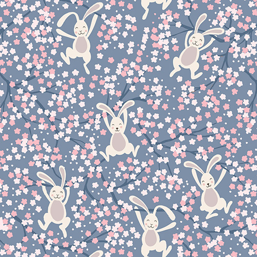 Bunny Hop By Lewis & Irene For  - Denim Blue