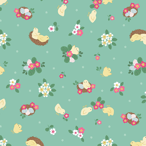 Bunny Hop By Lewis & Irene For  - Spring Green
