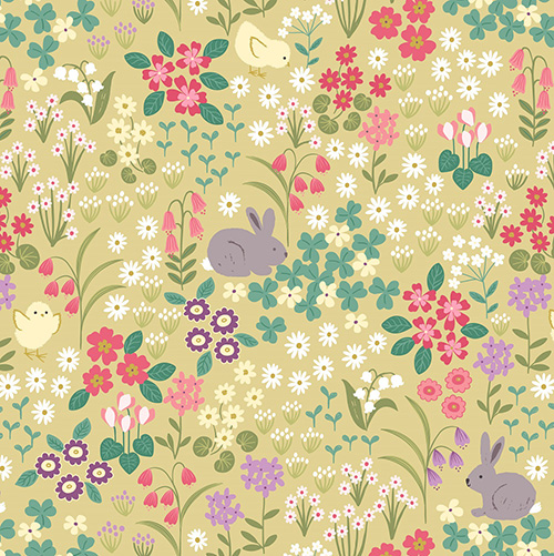 Bunny Hop By Lewis & Irene For  - Spring Yellow